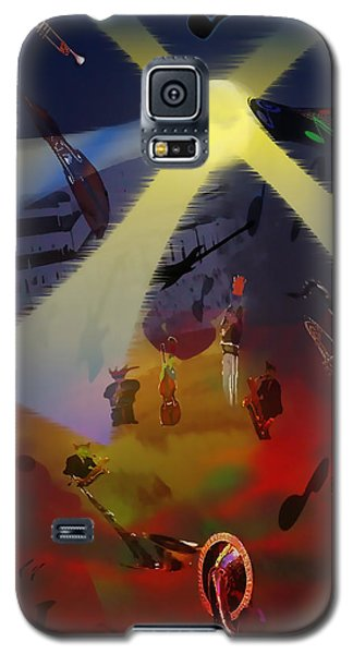 Galaxy S5 Case featuring the digital art Jazz Fest II by Cathy Anderson