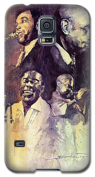 Portret Galaxy S5 Case - Jazz Legends Parker Gillespie Armstrong  by Yuriy Shevchuk