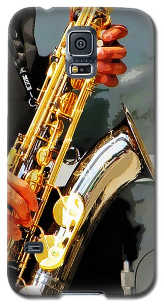 Galaxy S5 Case featuring the photograph Jazz Man by John Freidenberg