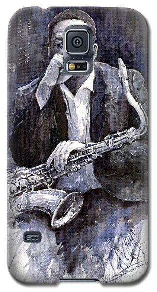 Jazz Galaxy S5 Case - Jazz Saxophonist John Coltrane Black by Yuriy Shevchuk