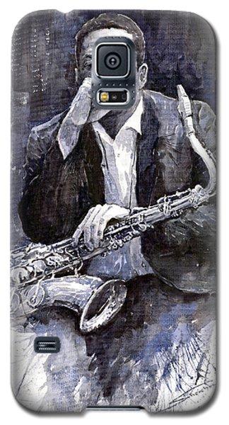 Jazz Saxophonist John Coltrane Black Galaxy S5 Case by Yuriy  Shevchuk