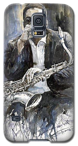 Jazz Saxophonist John Coltrane Yellow Galaxy S5 Case by Yuriy  Shevchuk