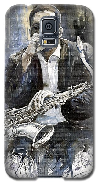 Galaxy S5 Case - Jazz Saxophonist John Coltrane Yellow by Yuriy Shevchuk