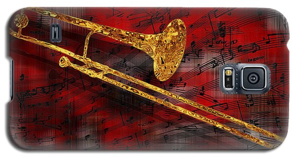Trombone Galaxy S5 Case - Jazz Trombone by Jack Zulli
