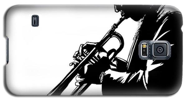Trumpet Galaxy S5 Case - Jazz Trumpet Player-vector Illustration by Isaxar