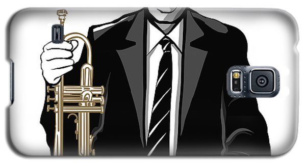 Trumpet Galaxy S5 Case - Jazz Trumpet Player - Vector by Isaxar
