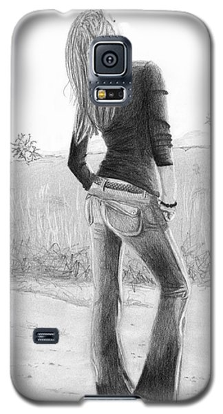 Galaxy S5 Case featuring the drawing Jeans by Denise Deiloh