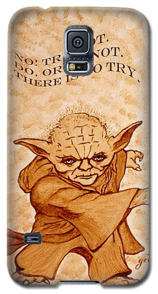 Star Wars Galaxy S5 Case - Jedi Yoda Wisdom by Georgeta  Blanaru