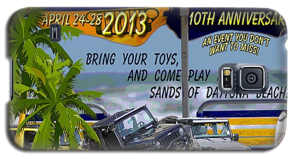 Galaxy S5 Case featuring the photograph Jeep Beach 2013 Welcomes All Jeepers by DigiArt Diaries by Vicky B Fuller