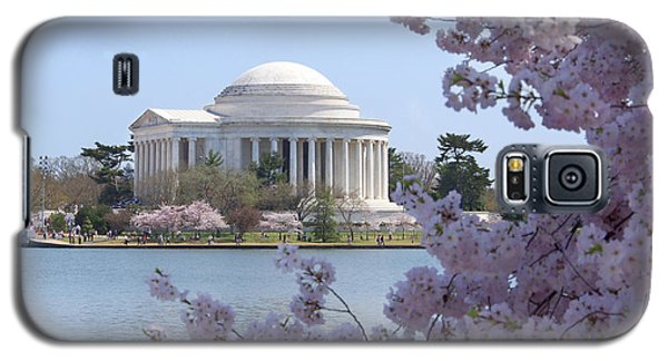 Jefferson Memorial - Cherry Blossoms Galaxy S5 Case by Mike McGlothlen