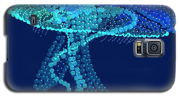 Galaxy S5 Case featuring the digital art Jellyfish Bedazzled by R  Allen Swezey