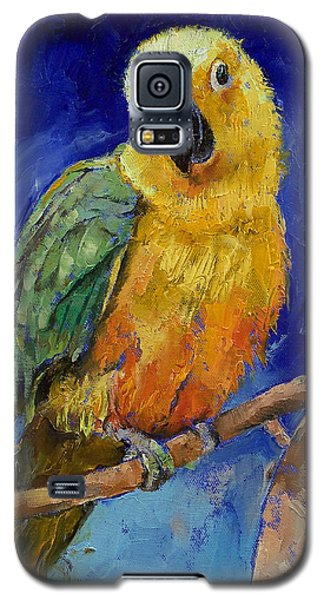 Macaw Galaxy S5 Case - Jenday Conure by Michael Creese
