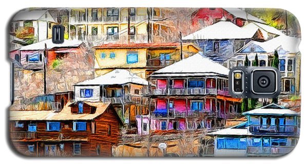 Jerome Arizona Hillside Houses Galaxy S5 Case by Clare VanderVeen