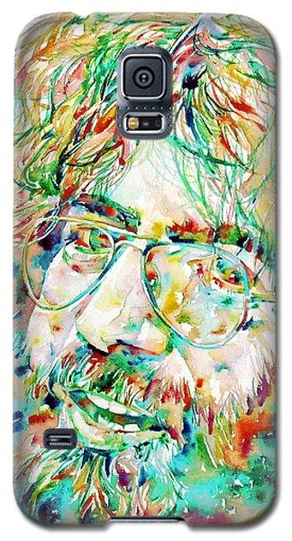 Jerry Garcia Watercolor Portrait.1 Galaxy S5 Case