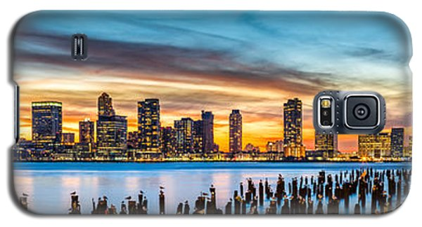 Jersey City Panorama At Sunset Galaxy S5 Case