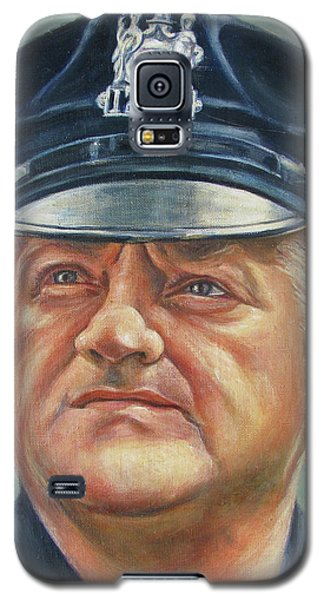 Galaxy S5 Case featuring the painting Jersey City Policeman by Melinda Saminski