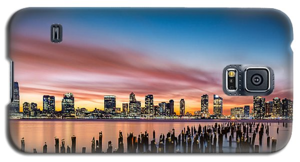 Jersey City Skyline At Sunset Galaxy S5 Case