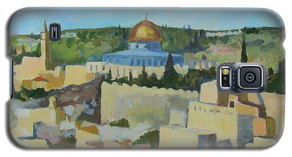 Jeruselem Rooftops Galaxy S5 Case by Linda Novick