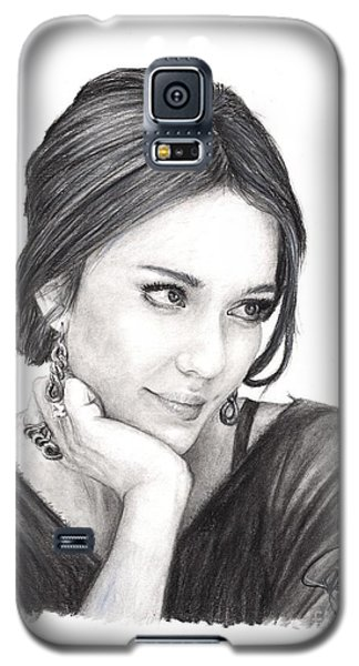 Jessica Alba Galaxy S5 Case by Rosalinda Markle