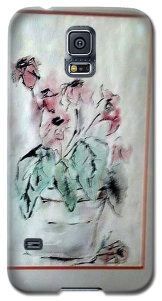 Galaxy S5 Case featuring the painting Jester Drawing by Richard Benson