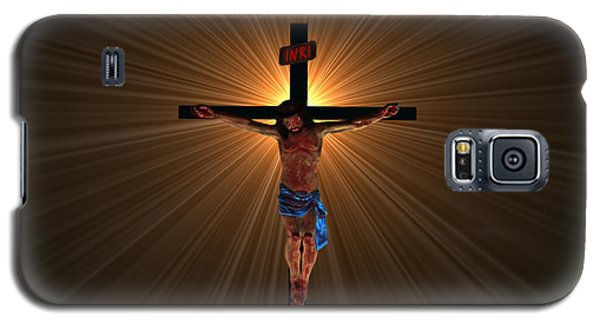 Galaxy S5 Case featuring the digital art Jesus Christ by Michael Rucker