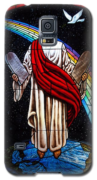 Jesus In Stain Glass Galaxy S5 Case by Randy Sylvia