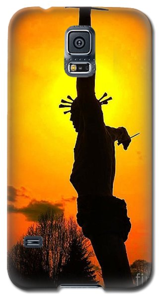 Galaxy S5 Case featuring the photograph Jesus In Sunset 1 Hope by Becky Lupe