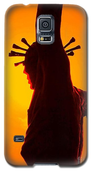 Galaxy S5 Case featuring the photograph Jesus In Sunset 2 Faith by Becky Lupe