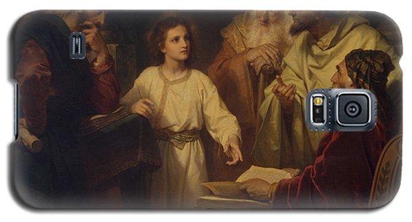 Jesus In The Temple Galaxy S5 Case by Heinrich Hoffmann