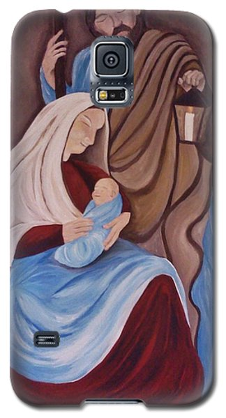 Jesus Joseph And Mary Galaxy S5 Case by Christy Saunders Church