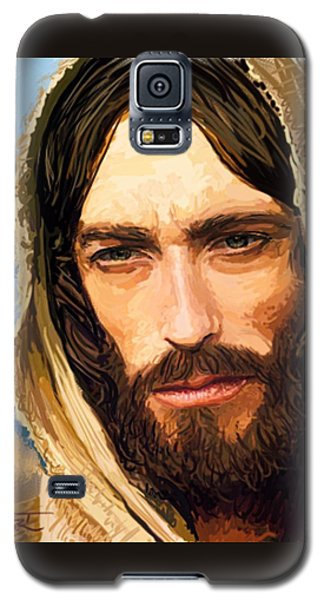 Galaxy S5 Case featuring the digital art Jesus Of Nazareth Portrait by Dave Luebbert