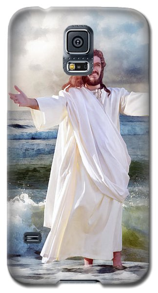 Jesus On The Sea Galaxy S5 Case by Francesa Miller