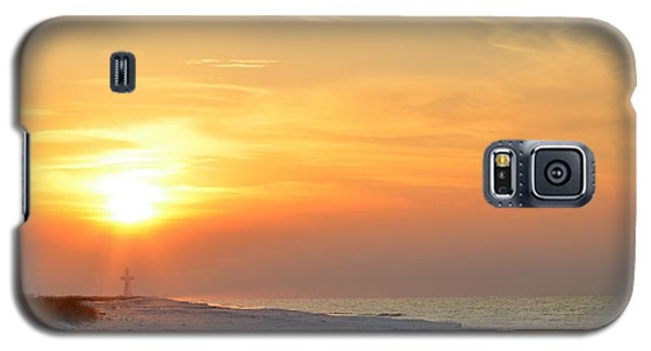 Jesus Rising On Easter Morning On Navarre Beach Galaxy S5 Case by Jeff at JSJ Photography