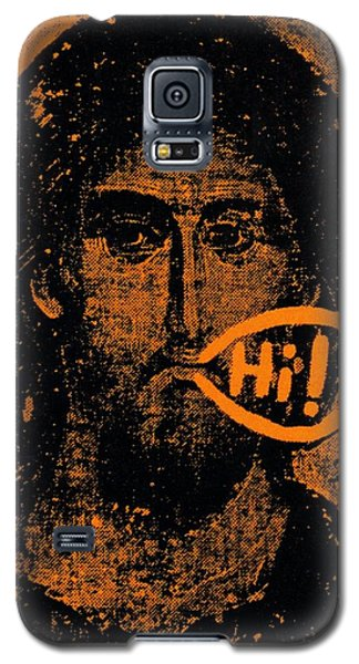 Galaxy S5 Case featuring the painting Jesus Says Hi by Patrick Morgan