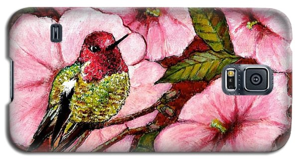 Galaxy S5 Case featuring the painting Jewel Among Blooms by VLee Watson