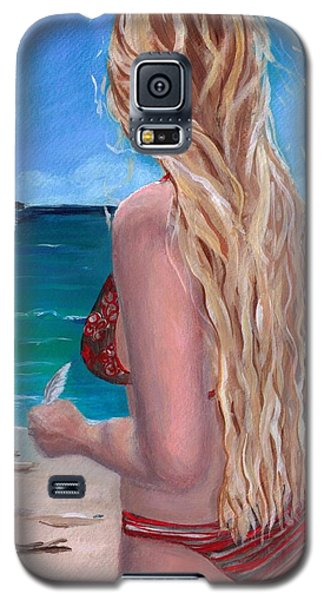 Galaxy S5 Case featuring the painting Jewel Of The Sea by Jesslyn Fraser