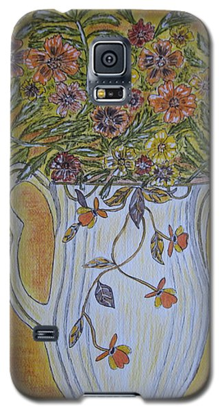 Jewel Tea Pitcher With Marigolds Galaxy S5 Case by Kathy Marrs Chandler