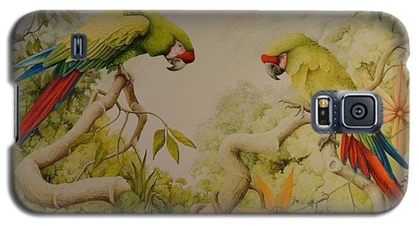 Jewels Of The Rain Forest  Military Macaws Galaxy S5 Case