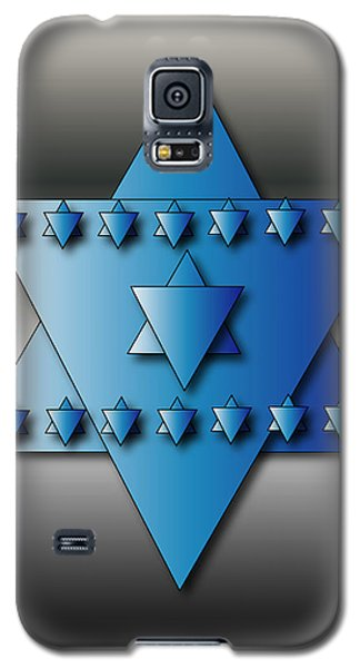 Galaxy S5 Case featuring the digital art Jewish Stars by Marvin Blaine