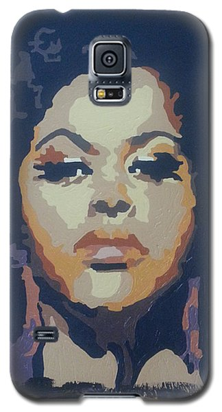 Galaxy S5 Case featuring the painting Jill Scott by Rachel Natalie Rawlins