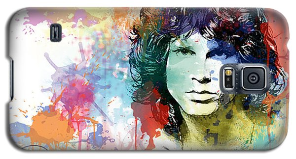 Galaxy S5 Case featuring the digital art Jim Morrison by Patricia Lintner