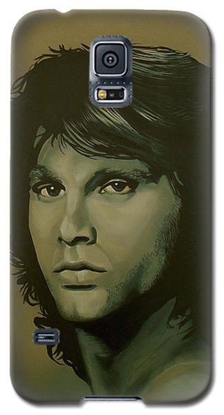 Raven Galaxy S5 Case - Jim Morrison Painting by Paul Meijering