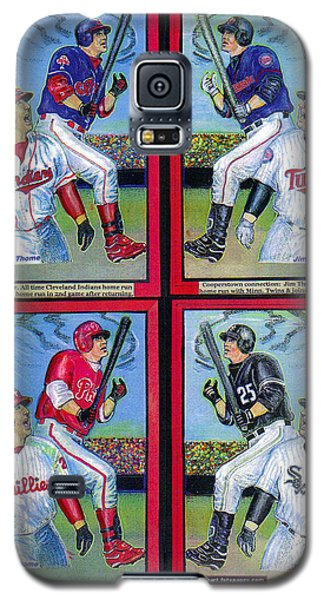 Galaxy S5 Case featuring the mixed media Jim Thome Hits 600th Home Run by Ray Tapajna