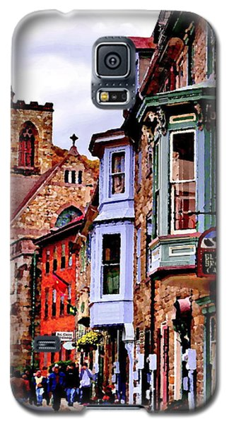 Galaxy S5 Case featuring the photograph Jim Thorpe Pa Stone Row by Jacqueline M Lewis