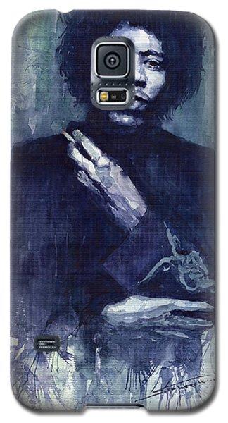 Portret Galaxy S5 Case - Jimi Hendrix 01 by Yuriy Shevchuk