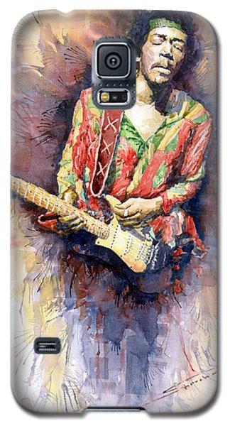 Portret Galaxy S5 Case - Jimi Hendrix 09 by Yuriy Shevchuk