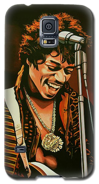 Jimi Hendrix Painting Galaxy S5 Case by Paul Meijering