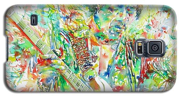 Jimi Hendrix Playing The Guitar Portrait.1 Galaxy S5 Case
