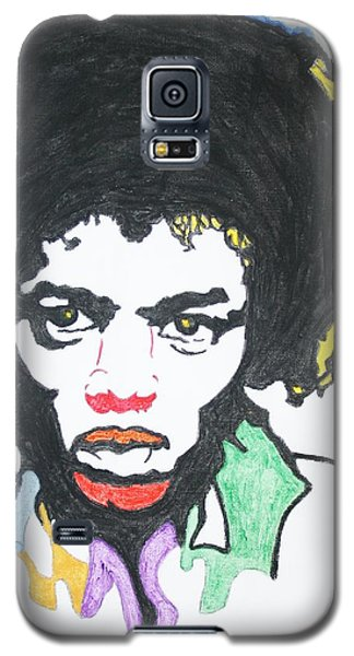 Galaxy S5 Case featuring the painting Jimi Hendrix by Stormm Bradshaw