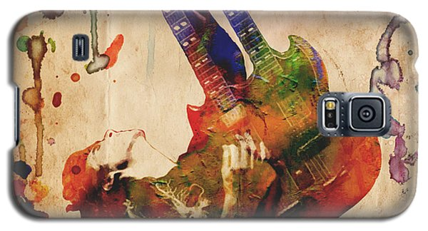 Jimmy Page - Led Zeppelin Galaxy S5 Case by Ryan Rock Artist